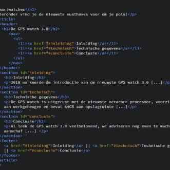 HTML5 semantiek, hoe werkt dat nu?